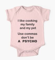 I like cooking my family my pets Use commas! Kids Clothes