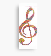 Psychedelic Music Symbol Metal Print