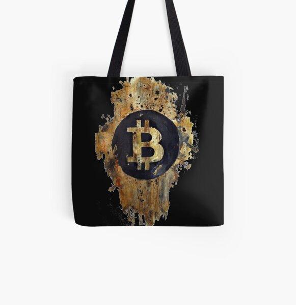 Sello Bitcoin Bolsa estampada de tela