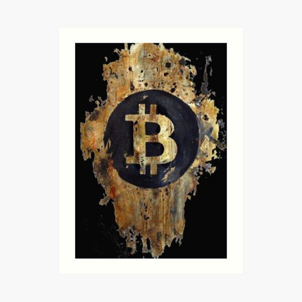 Bitcoin stamp Art Print