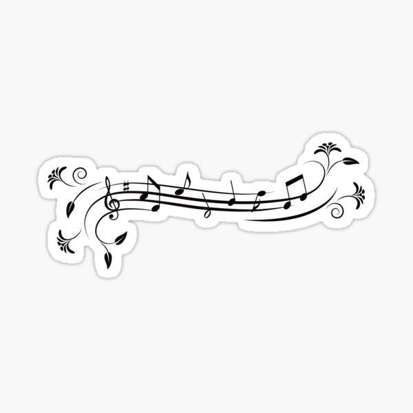 Floral music design sticker Sticker