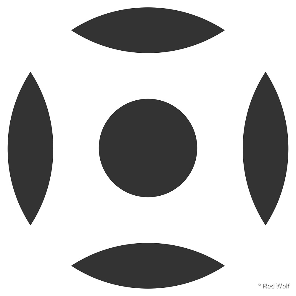 Geometric Pattern: Intersect Circle: White/Charcoal by * Red Wolf