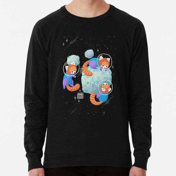 Red Space Pandas Lightweight Sweatshirt
