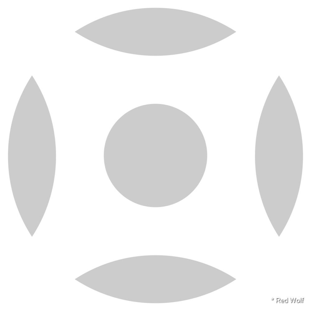 Geometric Pattern: Intersect Circle: White/Ash by * Red Wolf
