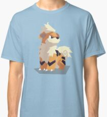 Cutout Growlithe Classic T-Shirt