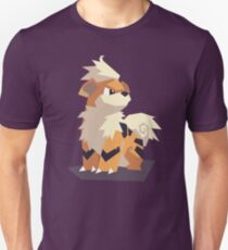 Cutout Growlithe Unisex T-Shirt