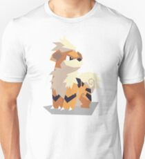 Cutout Growlithe Unisex T-Shirt