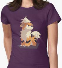 Cutout Growlithe Women's Fitted T-Shirt