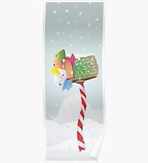 cassetta lettere babbo natale (letter box santa claus) Poster