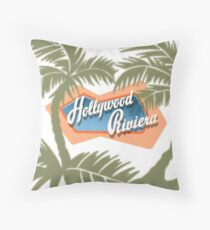 The Hollywood Riviera Throw Pillow