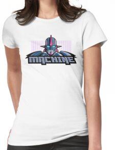Machine Retro 1980's Cartoon Design Womens Fitted T-Shirt