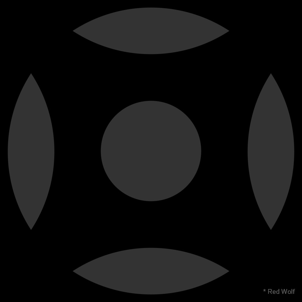 Geometric Pattern: Intersect Circle: Black/Charcoal by * Red Wolf