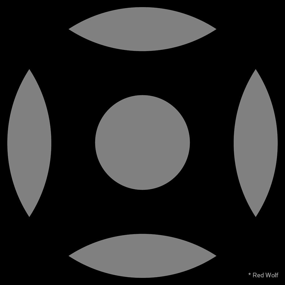Geometric Pattern: Intersect Circle: Black/Battleship by * Red Wolf