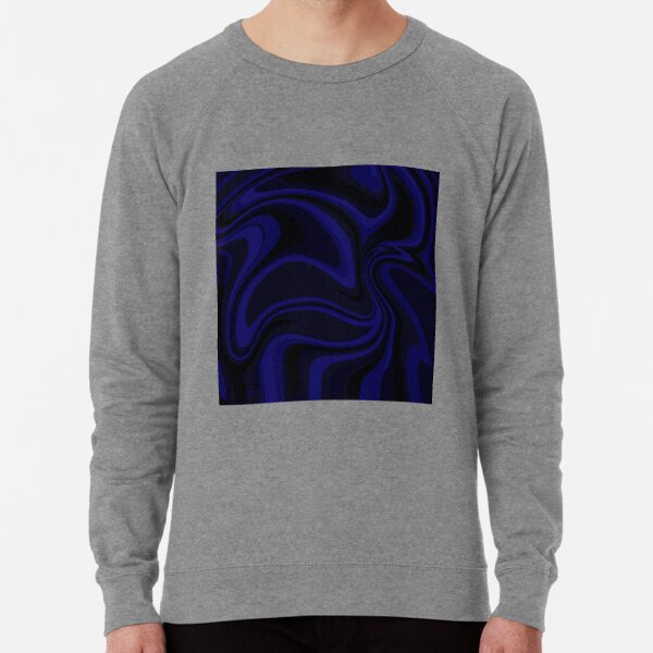 Blue paint drip Lightweight Sweatshirt