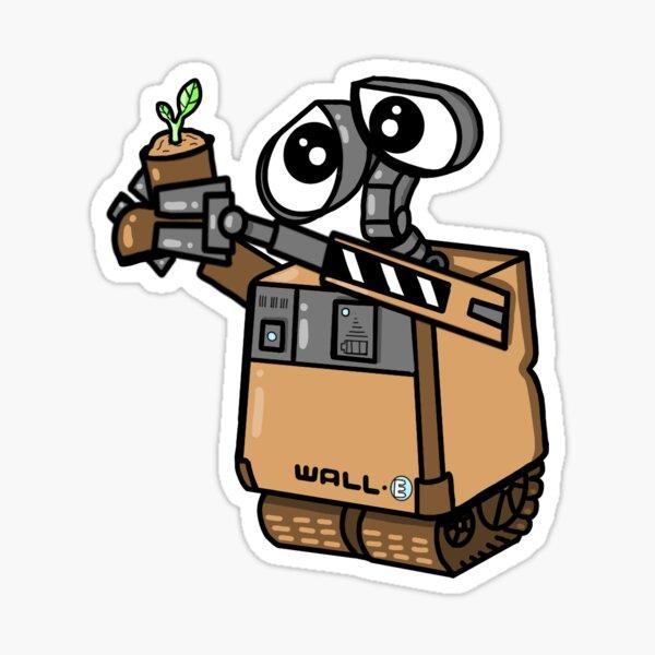 Baby Wall-e avec plante Sticker