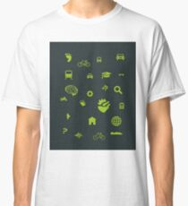 Urban mobility icons illustration Classic T-Shirt