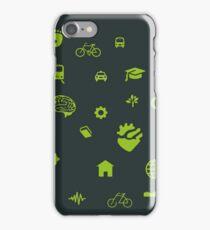 Urban mobility icons illustration iPhone Case/Skin