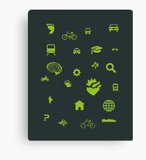 Urban mobility icons illustration Canvas Print