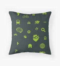 Urban mobility icons illustration Throw Pillow