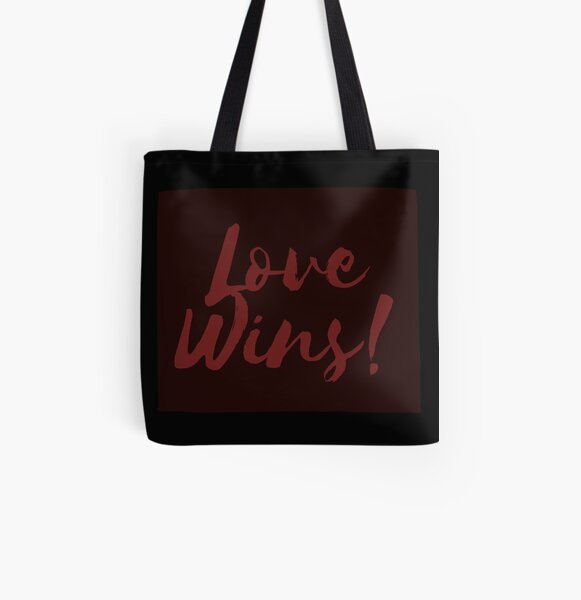 Love Wins All Over Print Tote Bag