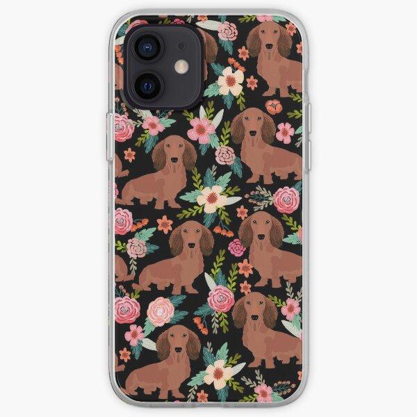 Dackelhunde mit Blumen iPhone Flexible Hülle