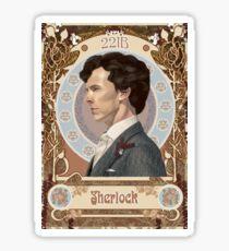 Sherlock Art Nouveau Sticker
