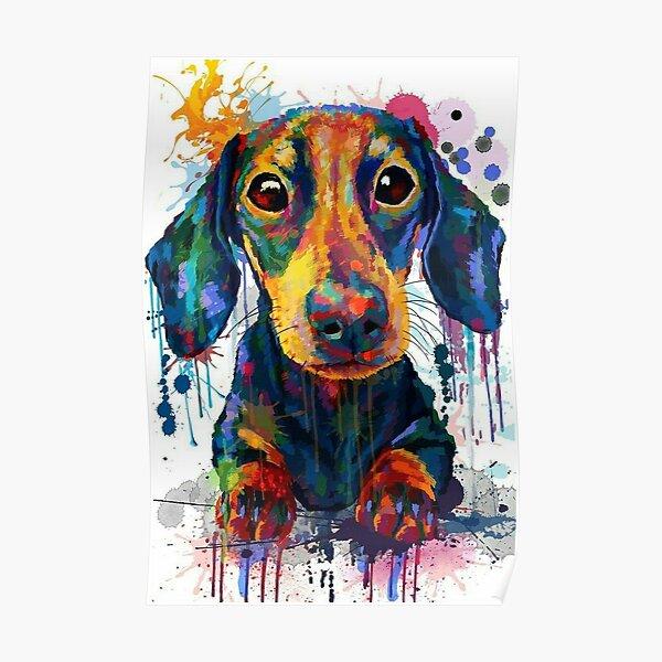 Dachshund Dog Art Poster