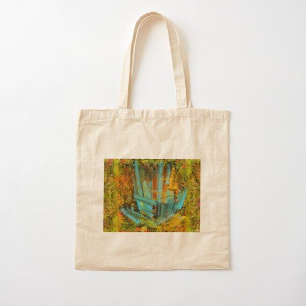 Blå trädkoja  i höstmörker Cotton Tote Bag