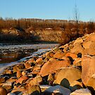 Flowing Ice ~ North Saskatchewan River by Roxanne Persson