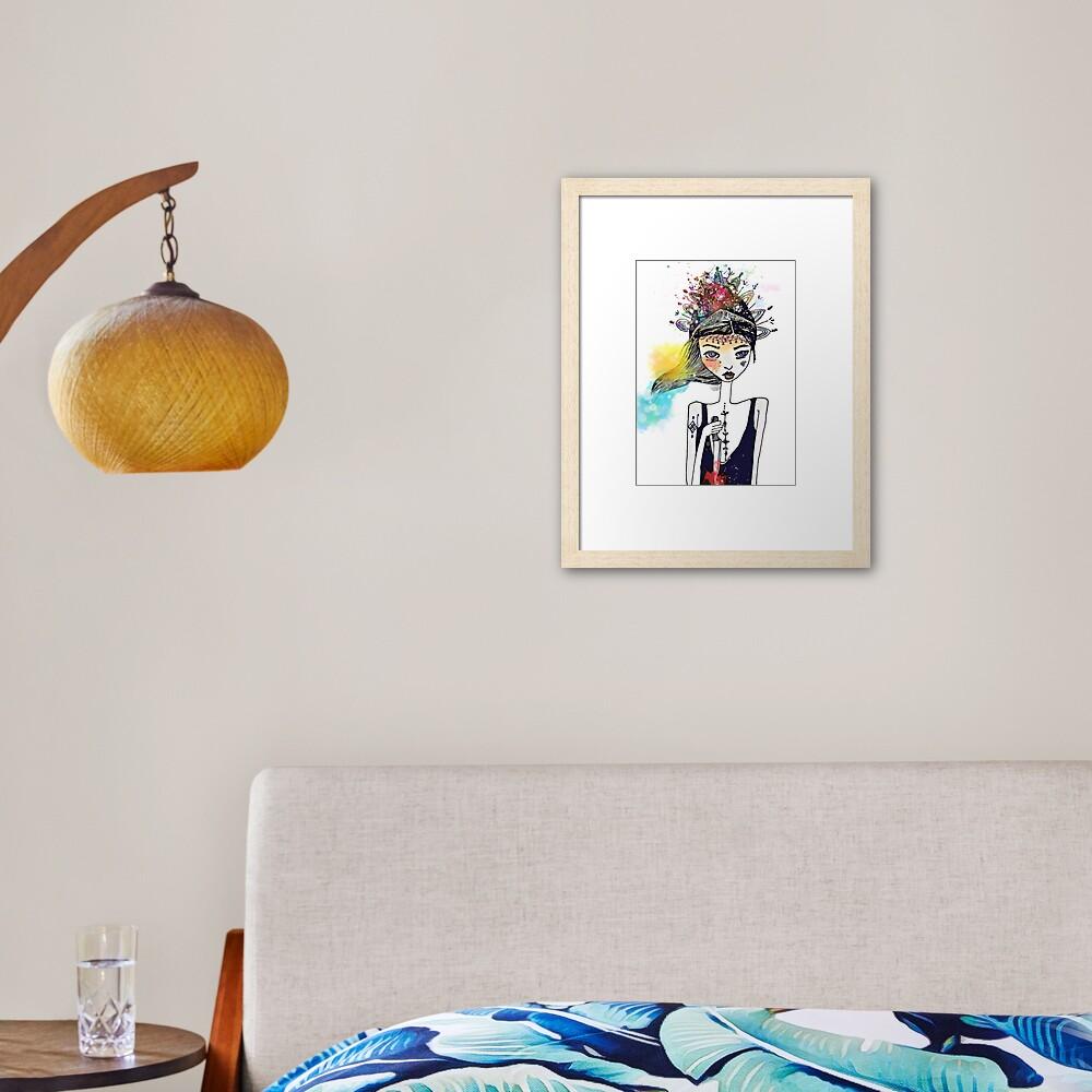 Virgen de la Caridad Framed Art Print