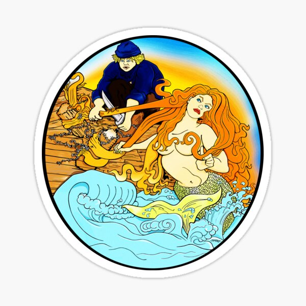 Mermaid spotted at the Dam Sticker