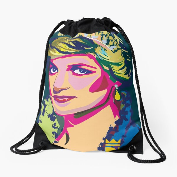 Diana The Princess Drawstring Bag