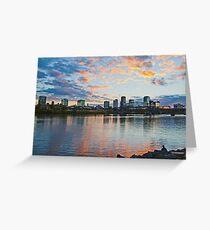 Little Rock, Arkansas at Sunset Greeting Card