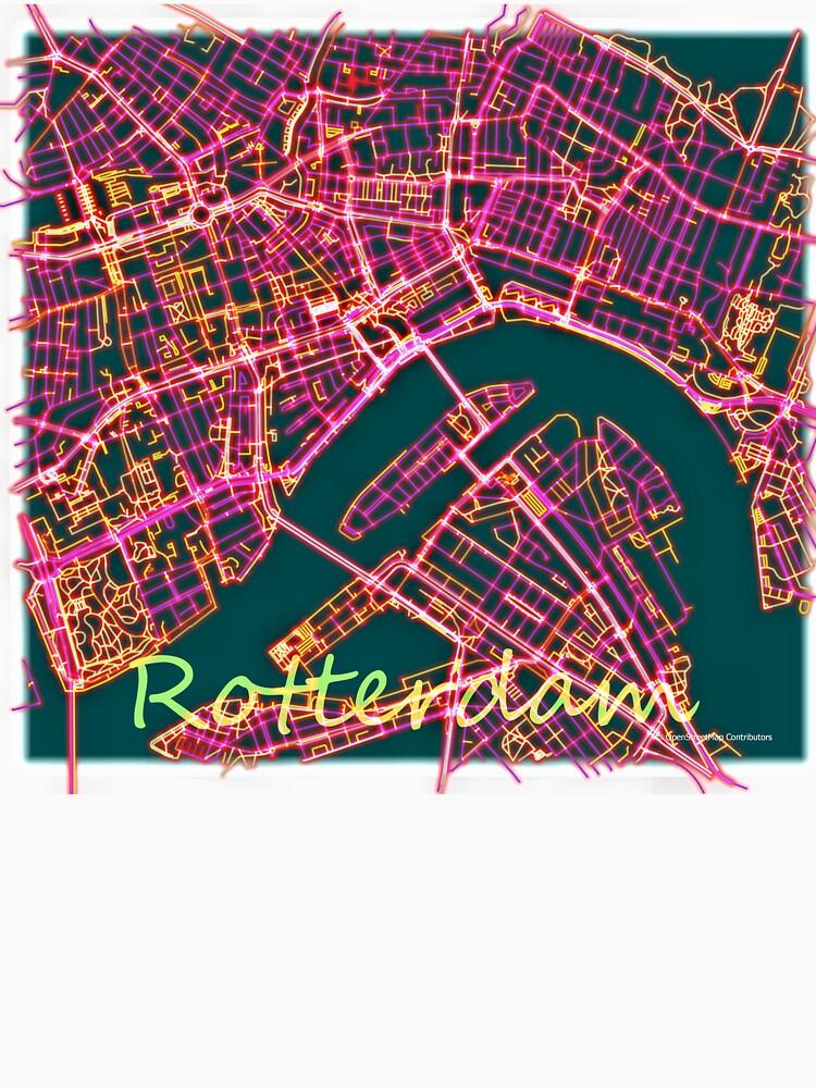 Neon Roads of Rotterdam by jvdkwast
