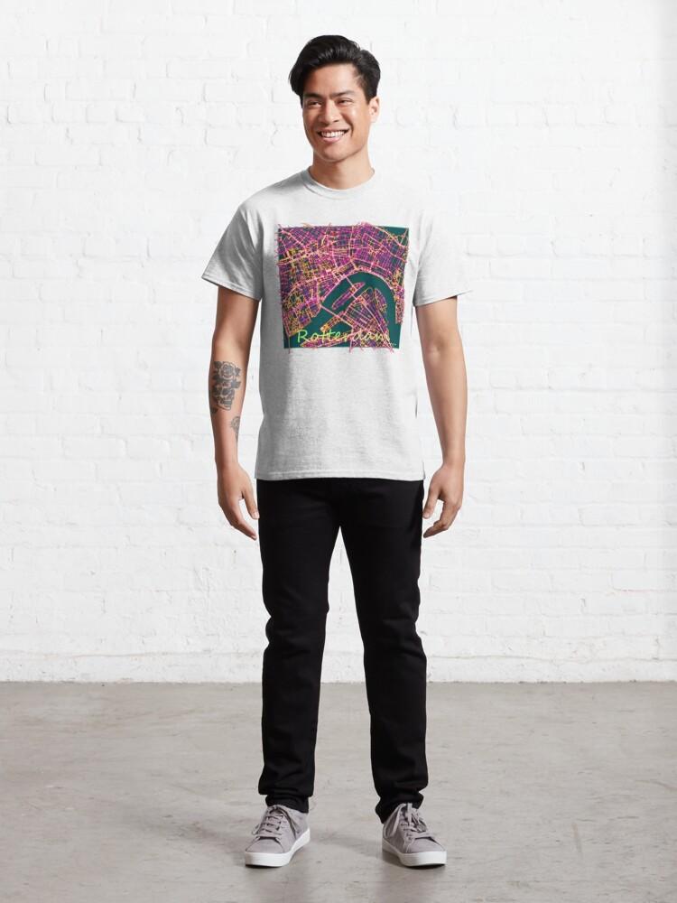 Alternate view of Neon Roads of Rotterdam Classic T-Shirt