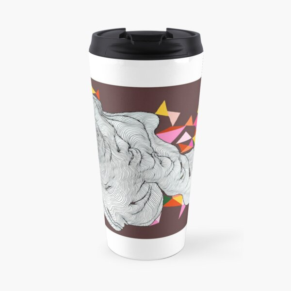 Clouds - Maroon Travel Mug