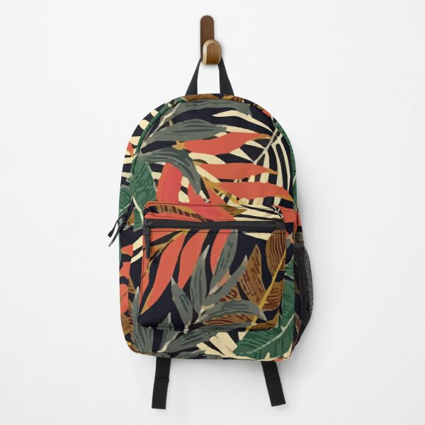 Fashionable Tropical Color Leaves Backpack