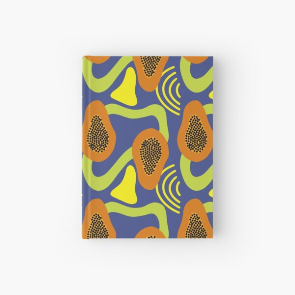 Funky Papaya Pattern Hardcover Journal