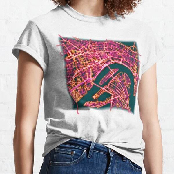 Neon Roads of Rotterdam (without text) Classic T-Shirt