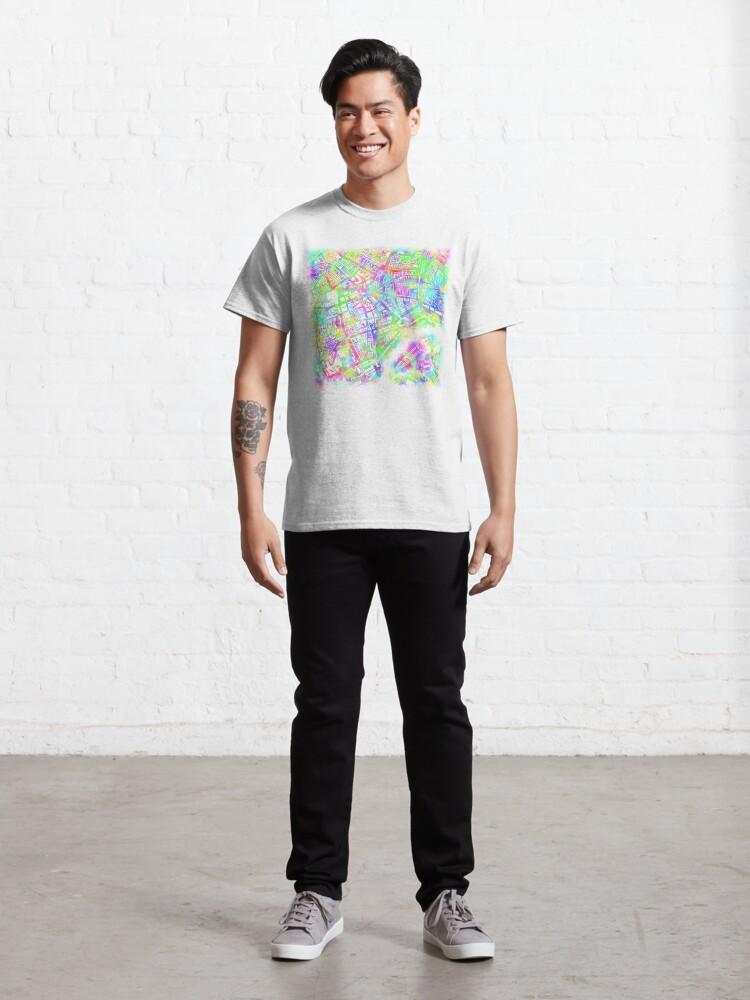 Alternate view of Rotterdam Toothbrush Spray Map Classic T-Shirt