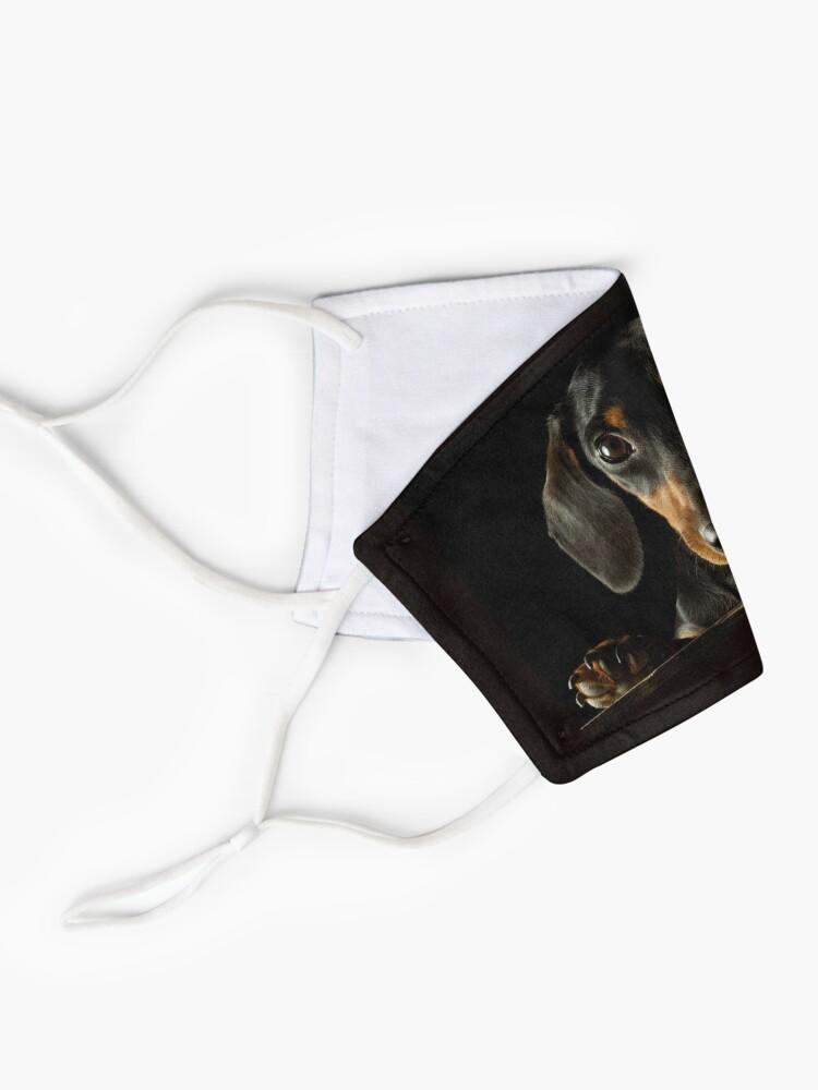 Alternate view of Dachshund Dog photo portrait Mask