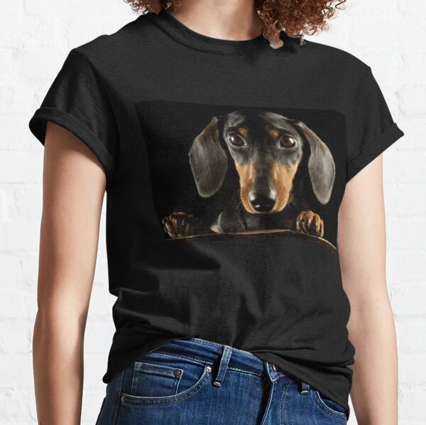 Dachshund Dog photo portrait Classic T-Shirt