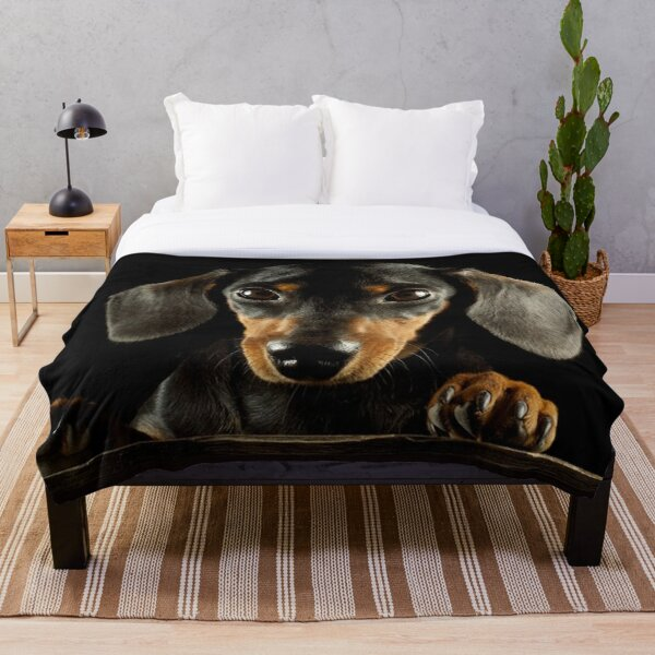 Dachshund Dog photo portrait Throw Blanket