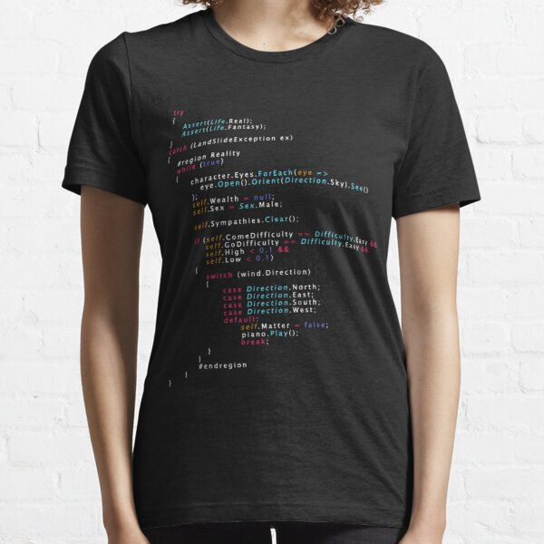 Is This The Real Life Coding Programming Color Essential T-Shirt