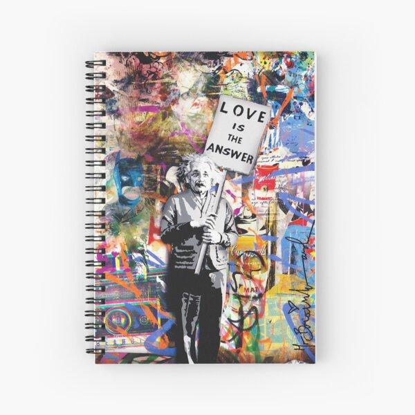 Banksy - Einstein Love Is The Answer Spiral Notebook