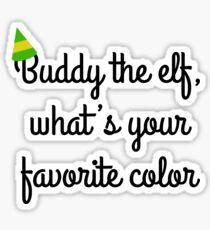 Buddy the elf! Sticker