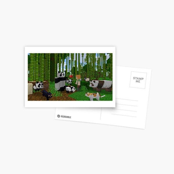 Minecraft Forest Postcard