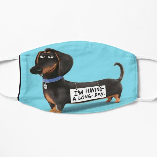 Dachshund Dog funny pupy Flat Mask