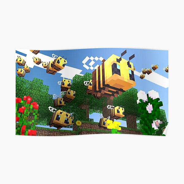 Minecraft Bees Poster