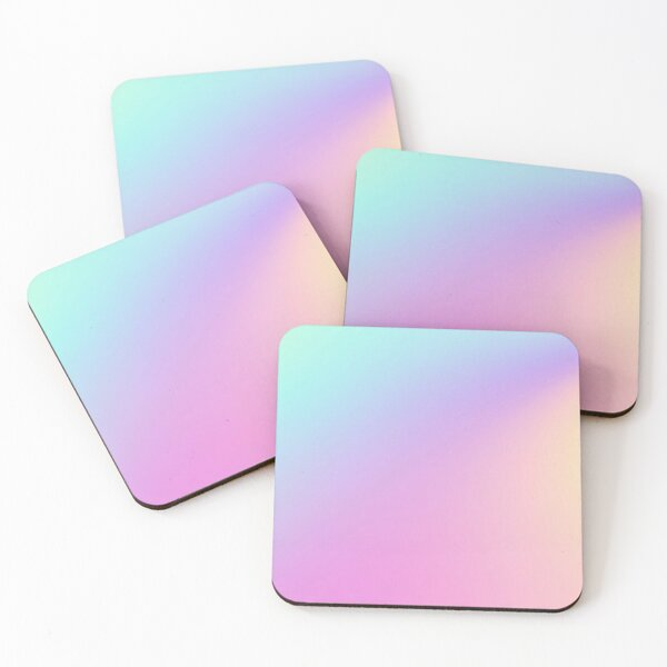 Abstract Holographic Gradient Coasters (Set of 4)